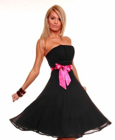 Luxusní černé společenské šaty