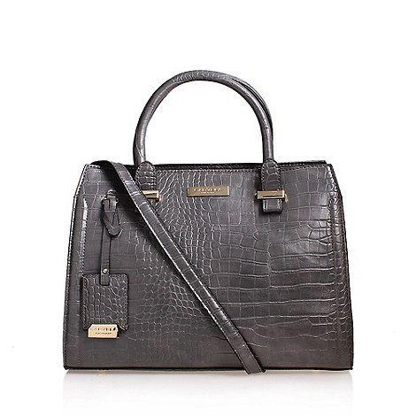 Carvela Grey 'Holly' Croc Zip Bag Handbag With Shoulder Straps | Debenhams