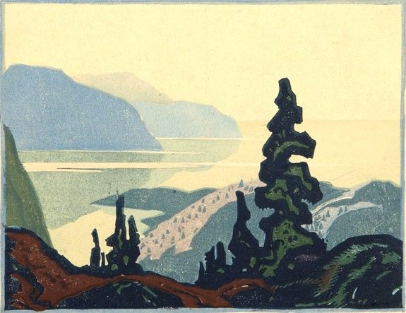 Franklin Carmichael, NORTH SHORE, LAKE SUPERIOR (Also known as NORTHERN SCENE and LANDSCAPE)