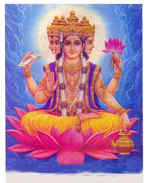 Brahma é o primeiro deus da Trimúrti, a trindade do hinduísmo. Brama é considerado, pelos hindus, a representação da força criadora ativa no universo.Na Índia em si, o deus é pouco cultuado, pois, na visão hindu, sua função já se acabou depois que o universo foi criado.