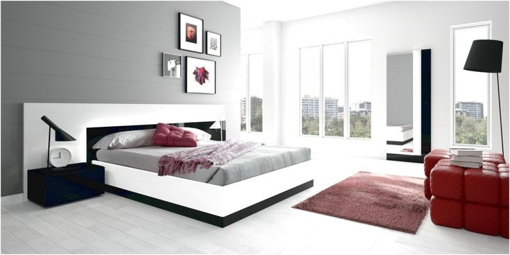 modern bedroom decorating ideas with contemporary bedroom sets #bedroom