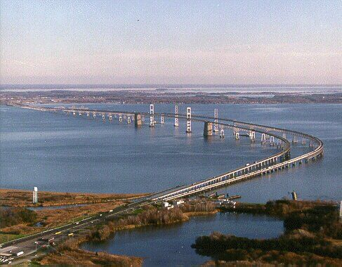 The Bay Bridge in Maryland is my favorite bridge...it takes my breath away to drive across it...you cant really capture how steep it is in this shot