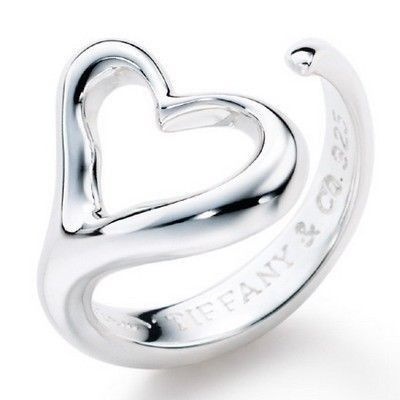 Tiffany And Co Ring Open Large Heart Silver 040
