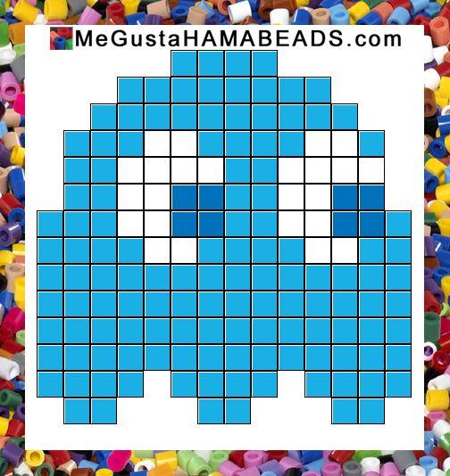 patrones hama beads pac-man inky 3