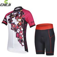 UK Stock Women Bike Cycling Sports Wear Jersey Top Shirt Or Padded Shorts S-XXL