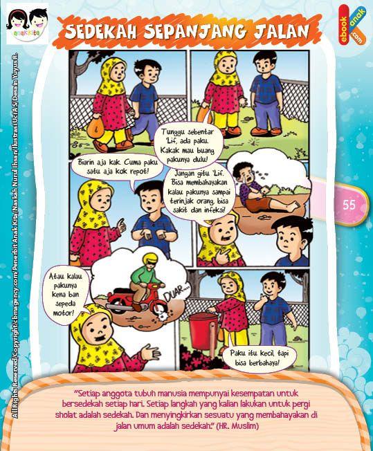 Komik Hadits Setiap Anggota Tubuh Bisa Sedekah Setiap Hari | Ebook Anak