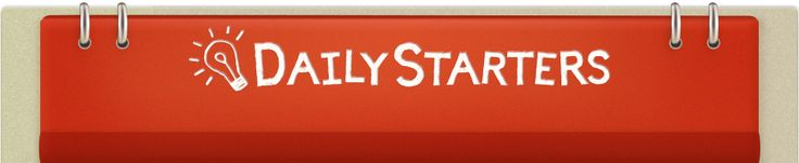 Daily Starters, a teachers guide. Just found this on Scholastic's website! Great for beginning the day:)