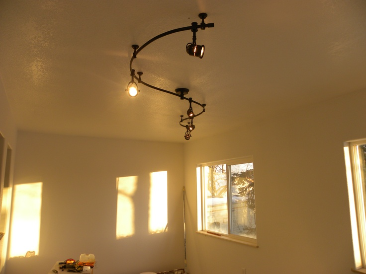 After the texture and painting  I installed this flexible track lighting  system Best 20  Flexible track lighting ideas on Pinterest   Kitchen  . Install Track Lighting On Wall. Home Design Ideas