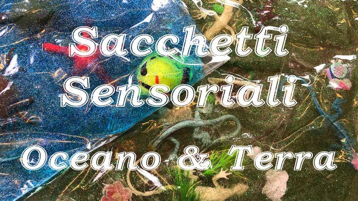 Video tutorial su come creare due sacchetti sensoriali: l'oceano e la terra. Aiuteranno a sviluppare il senso della vista e del tatto del tuo bambino