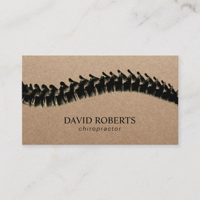 Chiropractor Chiropractic Spine Therapist Rustic Business Card Zazzle Com In 2021 Rustic Business Cards Kraft Business Cards Vintage Business Card Design