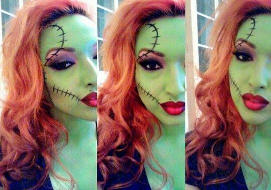 Cute sexy pretty zombie pin up makeup