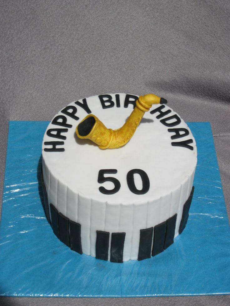Saxophone-Torte zum 50. Geburtstag für einen Musiker
