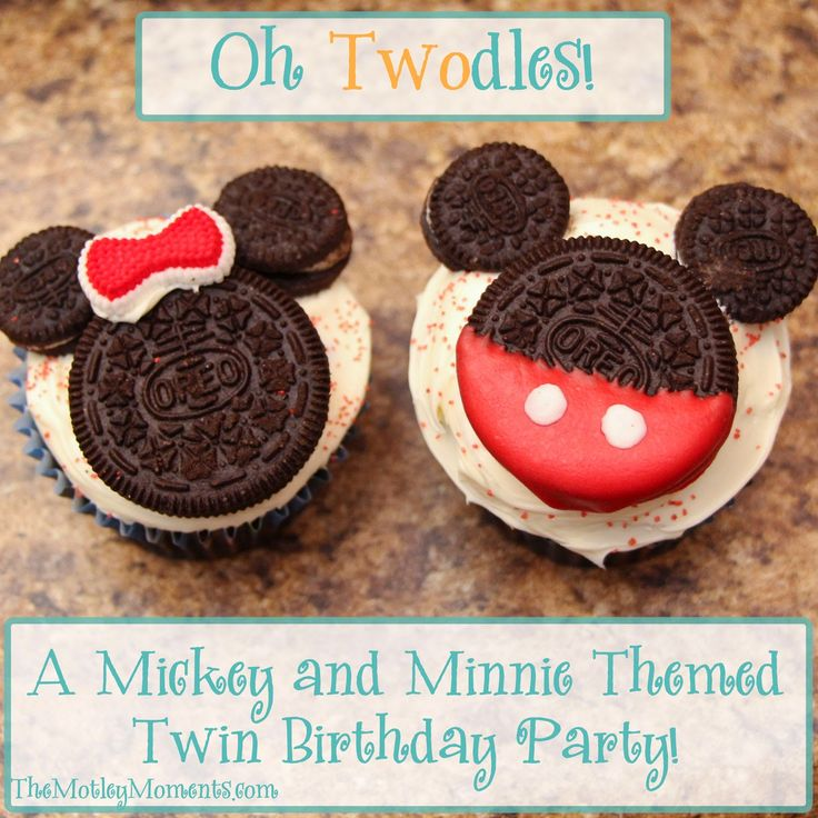 The Motley Moments: Oh Twodles! A Mickey and Minnie Themed Twin Birthday Party! #birthday #2yearold #twins #mickey