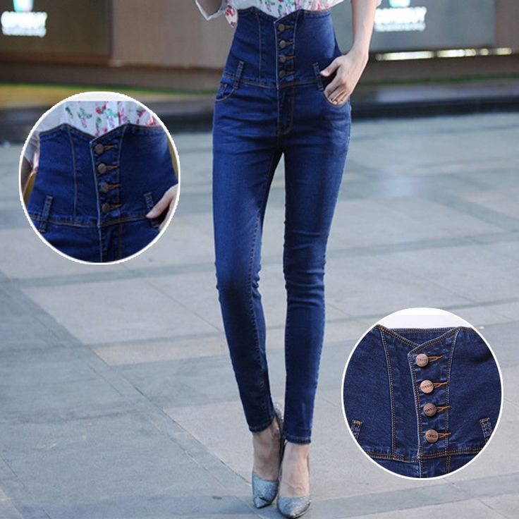 27.69$  Watch here - http://ali76o.shopchina.info/go.php?t=32310468135 - Woman New High Waist Elasticity Plus Big size 33 34 4XL XXXXL Ladies Jeans Women Breasted FemaleDenim Trousers Pencil Feet Pants 27.69$ #magazineonlinebeautiful