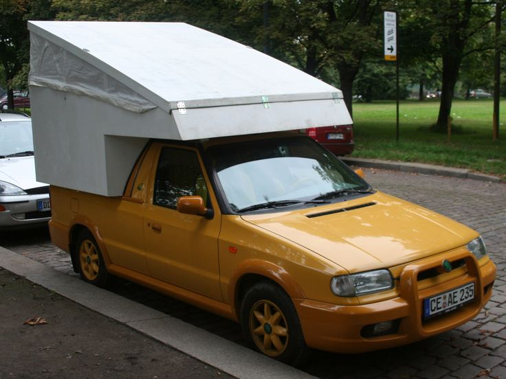 skoda pick up mit wohnkabine car based campers. Black Bedroom Furniture Sets. Home Design Ideas
