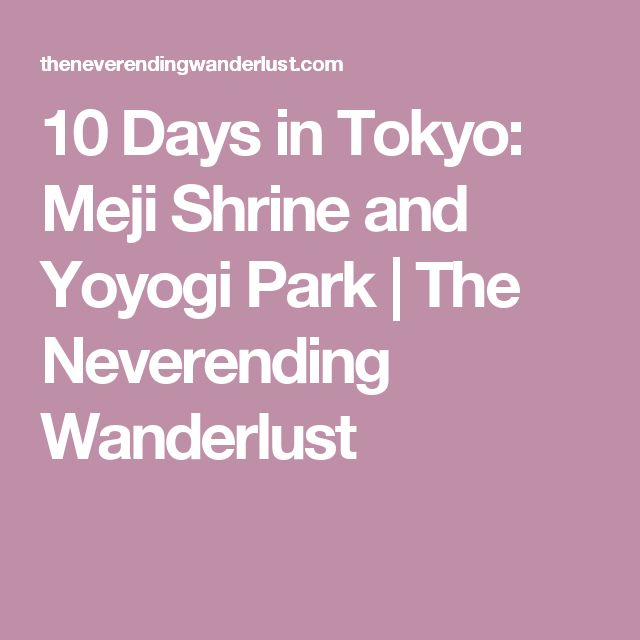 10 Days in Tokyo: Meji Shrine and Yoyogi Park | The Neverending Wanderlust