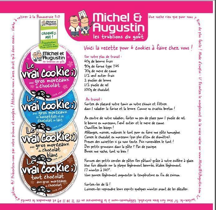 La vraie recette donnée par Michel et Augustin pour fabriquer leurs cookies à la maison