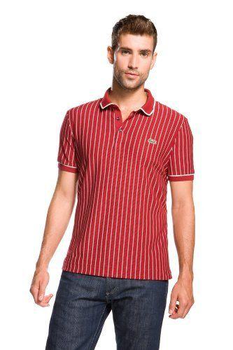Short Sleeve Vertical Stripe Pique Polo : L!VE