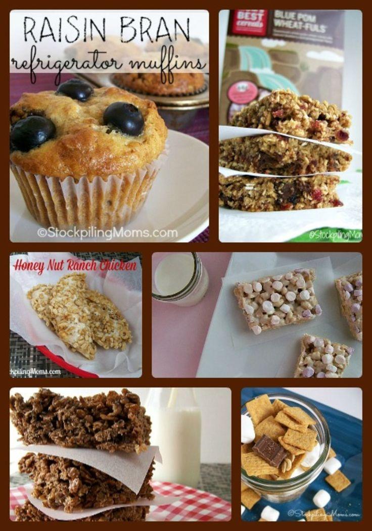 Mom's Best Cereals Recipe Roundup #delicious #treats #goodforyou http://www.stockpilingmoms.com/2014/07/moms-best-cereal-recipes-roundup/
