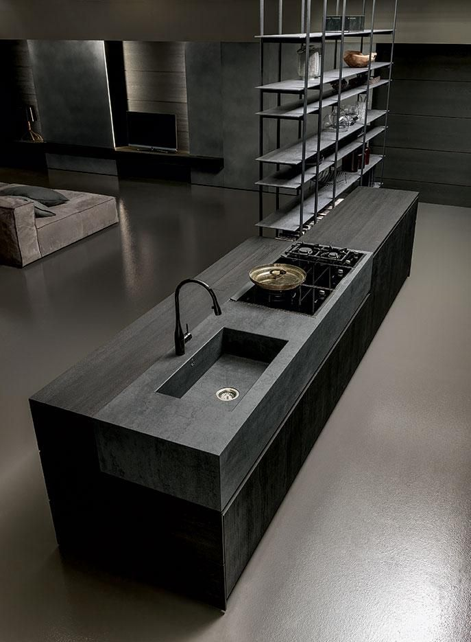 Dark, deep and smoky. This is Blade #designkitchen www.modulnova.it #interiordesign #designhome