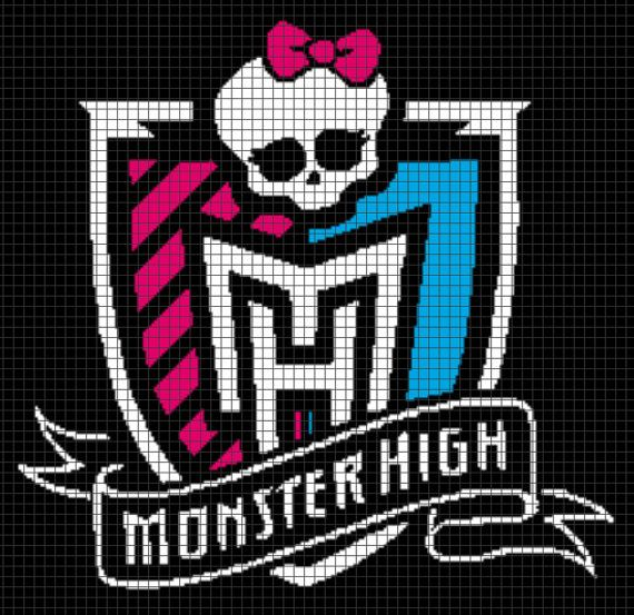 Monster High Crochet Graphghan Pattern by YarnLoveAffair on Etsy, $15.00