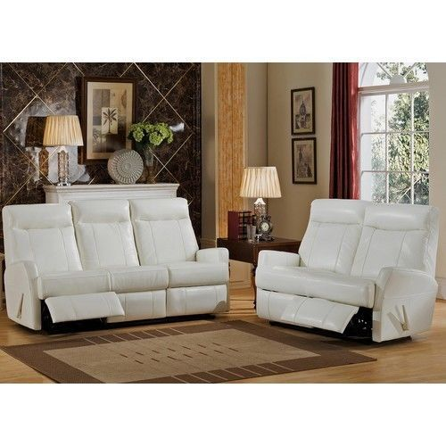 Leather Sofa and Loveseat Set White She Shed Furniture + Room of Choice Delivery #Amax
