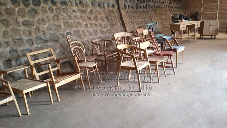 Production and manufacturing of retro mid century chairs by Jepara Goods Woodworking Studio Furniture Indonesia at factory price.