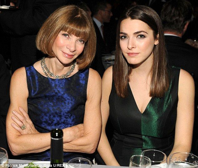 Softer side: Anna Wintour has two children, Charlie, 30, and TV producer daughter Bee, 28, pictured in 2012
