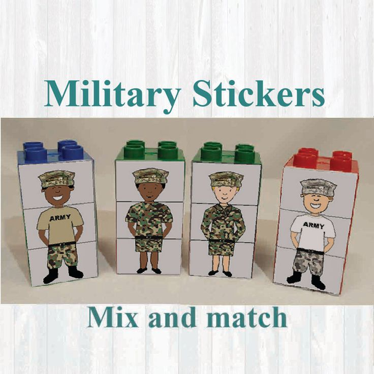 Military Stickers,Fridge magnets, Building blocks. Fits on Lego, Army, Instant digital download Printable by MoonGloCreations on Etsy