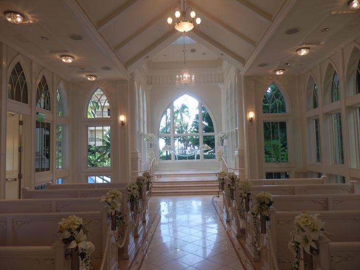 Inside the Wedding Chapel at the Hilton Hawaiian Village, Honolulu, Hawaii, USA