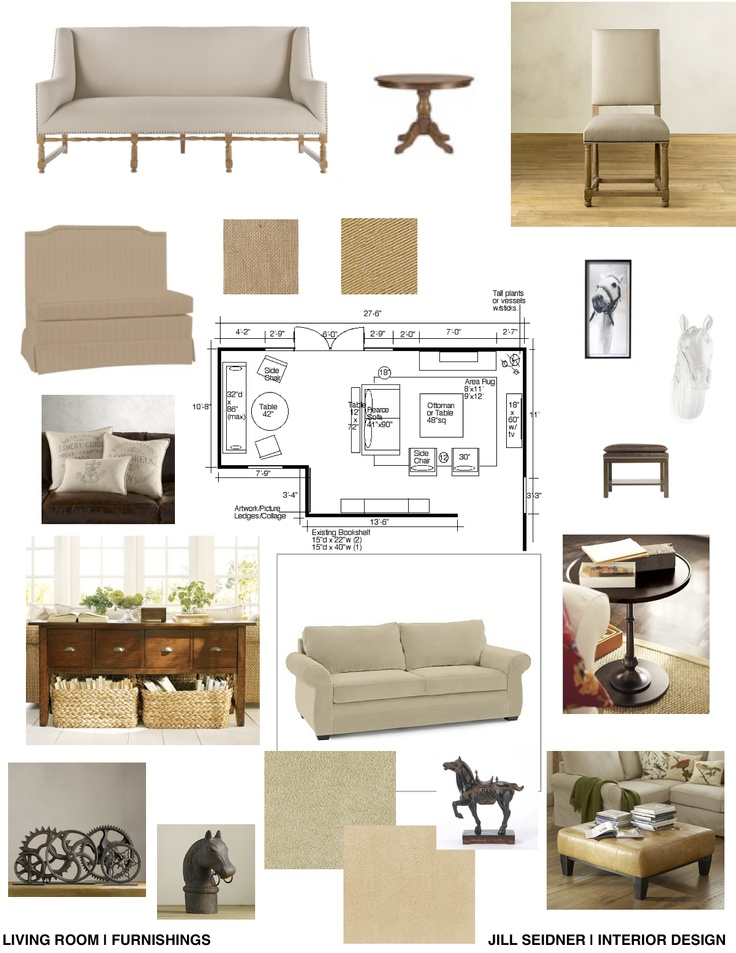 Concept Board For Living Room Furnishings