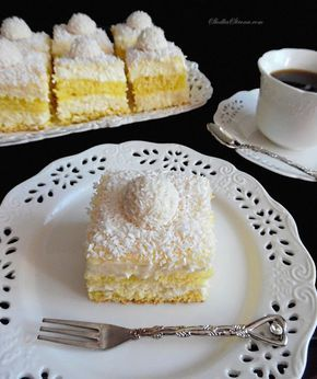 """Ciasto """"Rafaello"""" - Najlepsze - Przepis - Słodka Strona"""