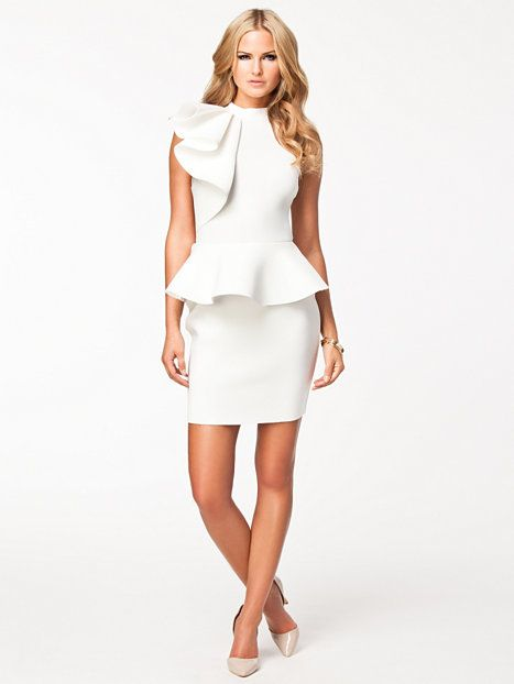 Frill dress river island white party dresses - White dress party ...