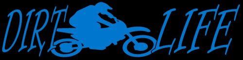 Dirt Life Vinyl Decal Dirtbike Motorcross Racing Motorcycle Sticker   LilBitOLove - Housewares on ArtFire