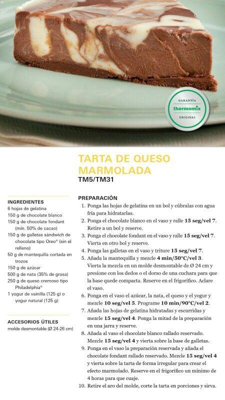 Tarta de queso Marmolada Thermomix
