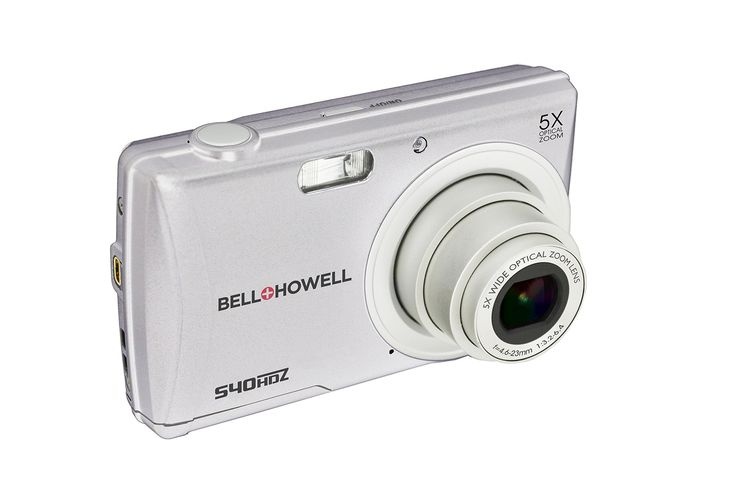 "Bell+Howell S40HDZ-S 16Digital Camera with 2.7"" LCD (Silver). 16.0 MP Still Image Resolution W/HD Video Resolution. 2.7 Inch LCD & 5X Optical zoom. 64MB Internal memory expandable to 64GB with SD card (SD card not included). Built in speakers. Includes: Case, Strap, USB/AV Cable, Lithium-Ion Battery, AC Adapter, CD-ROM, Instruction Manual."