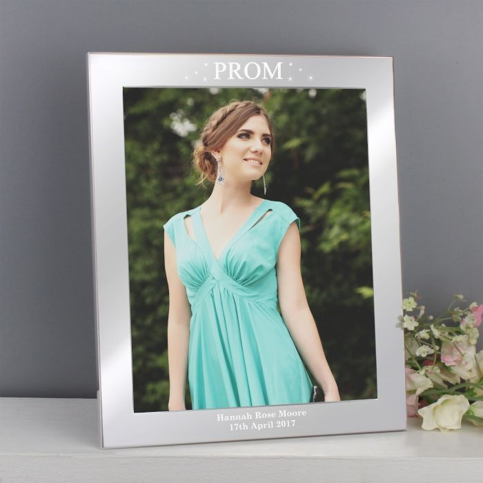 Our Personalised Prom Night Silver 10x8 Photo Frame is an ideal way to commemorate their special leaver s prom The frame will look brilliant hung on