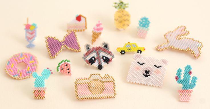 Motif pour broches en miyuki sur le blog de la-petite-epicerie.fr  #miyuki #brickstitch #jenfiledesperlesetjassume