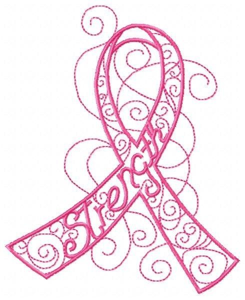 ribbon embroidery cancer breast