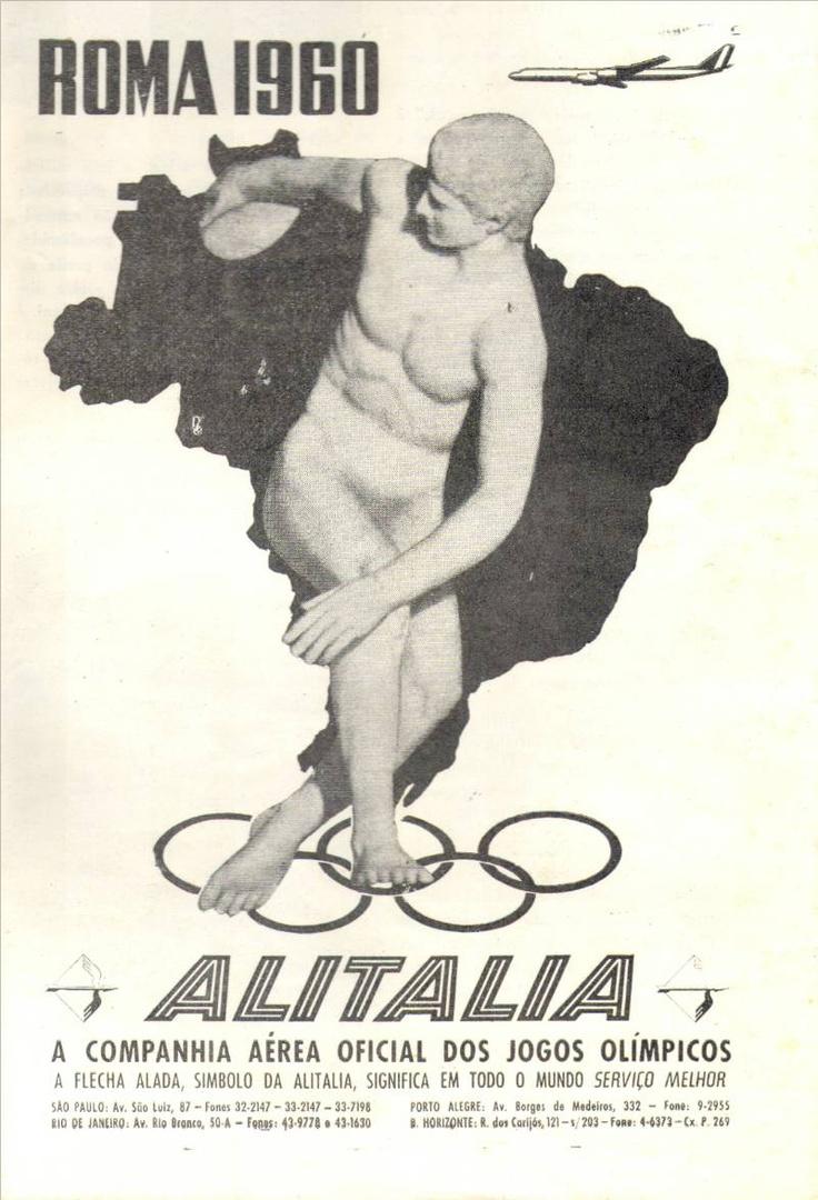 alitalia  - olimpiadi di roma 1960