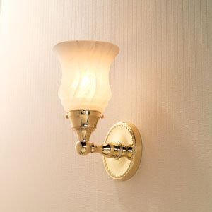 Ginger 1582-1N/PB Canterbury Bathroom Light by Ginger. $217.10. Configuration:Single Light, Finish:Polished Brass, Glass:Nuage Glass, Light Bulb:(1)100w A19 Med F Incand Inspired by Georgian period architecture, the Canterbury collection's rope motif is a unifying presence in any decor.The Canterbury Vanity Light is available in a variety of finishes; please see options to make a selection.  Features a mouthblown shade offered in Nuage, Satin Etched, or Satin Opa...