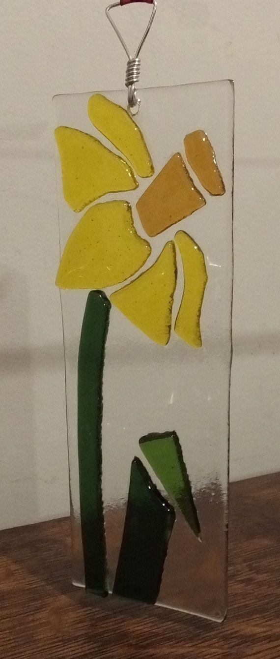 fused glass daffodil - Google Search