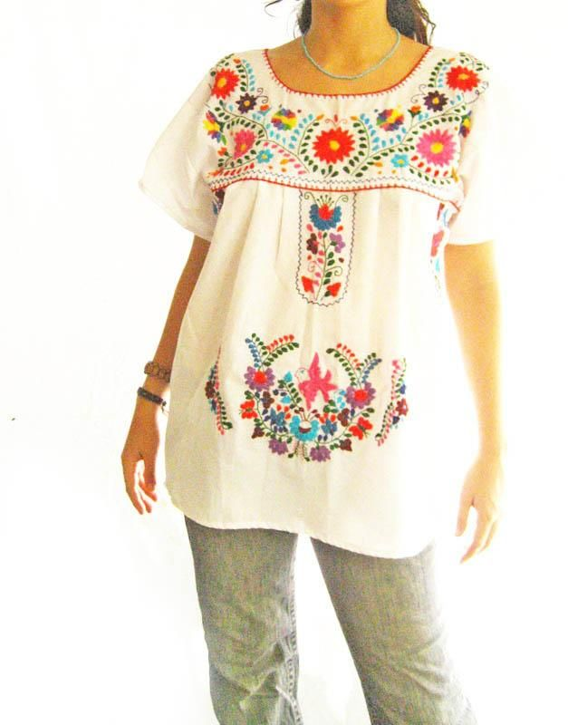 Handmade Mexican Embroidered Dresses And Vintage Treasures From Aida Coronado Top A Heart In Every Piece Style Pinterest