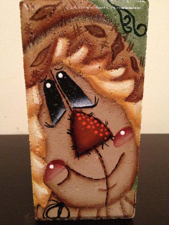 Hey, I found this really awesome Etsy listing at http://www.etsy.com/listing/117077211/fall-harvest-scarecrow-brick