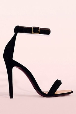 black + strappy = love these heels