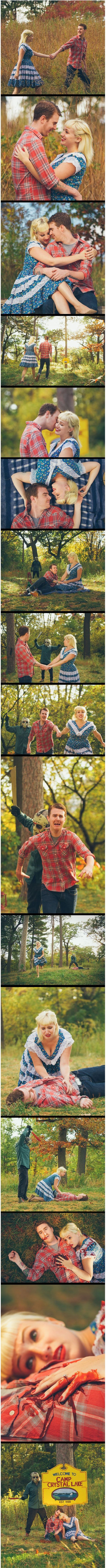 horror themed engagement photos <<< Well, that escalated quickly.