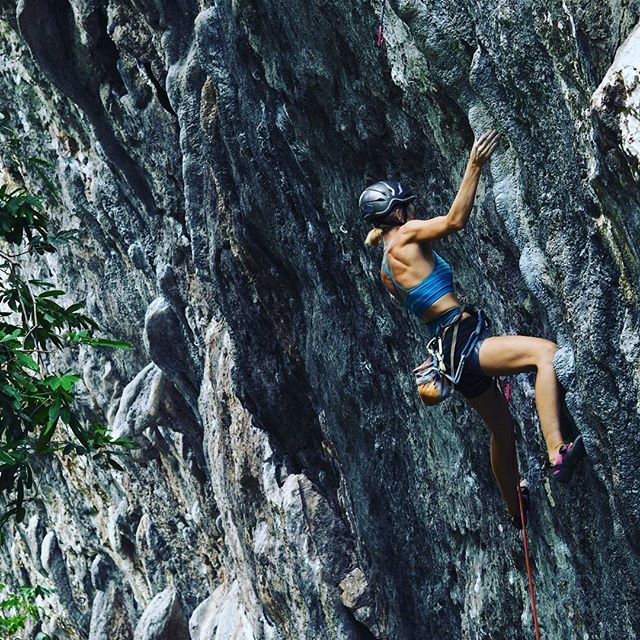 """""""Silvia finishing her first 7a, good fighting on an awesome line! . . . . . . . . . . #thakhek #laos #roofclimbing #climbing_is_my_passion #climbing #climbinglife #climbingday #climbing_pictures_of_instagram #travel #travels #travelblogger #travelgram #instatravel #backpacker #wanderlust #offthebeatentrack #abmtravelbug #traveltheworld #neverstopexploring #lifewelltravelled #instapassport #adventure #greenclimbershome #girlpower"""" by @_alwayswandering (Pyn & Silvia). #turismo #instalife…"""