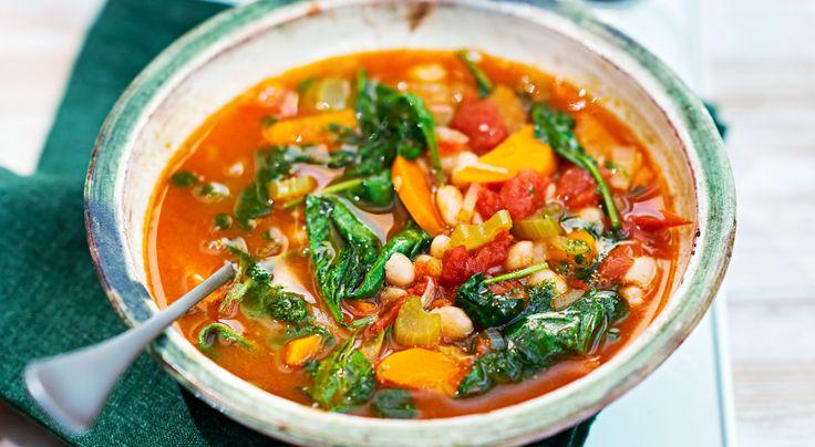 Italiensk grönsakssoppa med pistou.