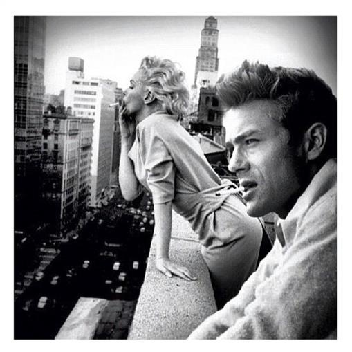 Marilyn Monroe & James Dean, NYC  I want this for my living room