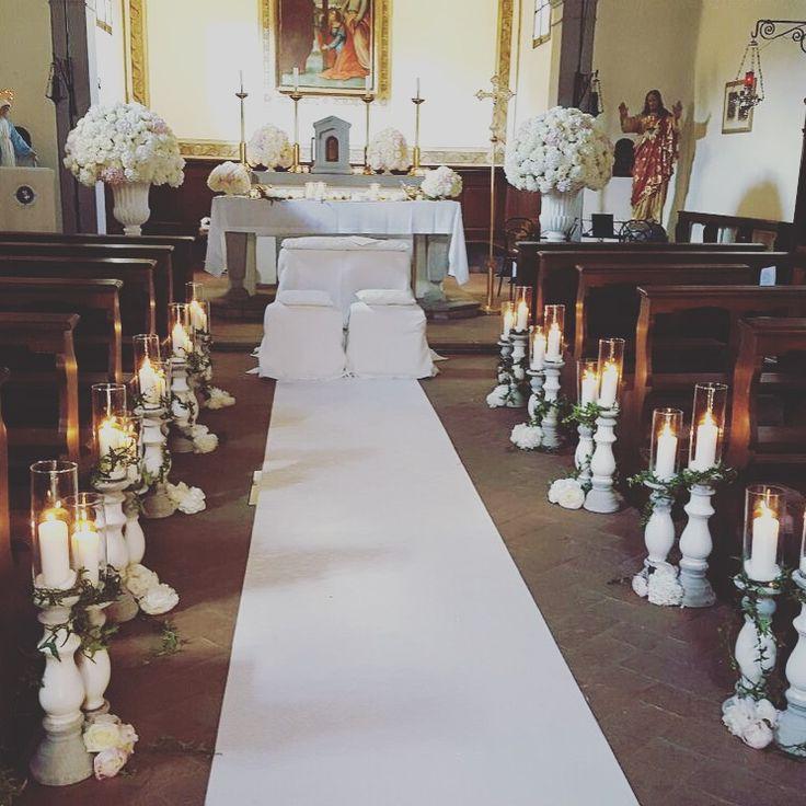White decor church